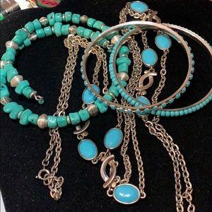 Jewelry - LOT OF 3 BRACELETS & ONE NECKLACE